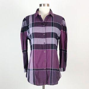 Burberry Brit | Purple Check Plaid Button Shirt
